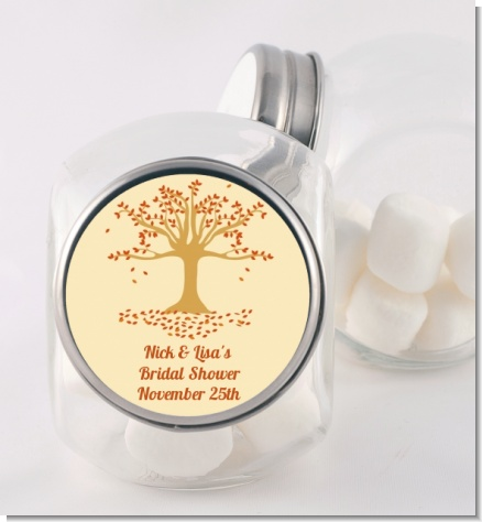 Autumn Tree - Personalized Bridal Shower Candy Jar
