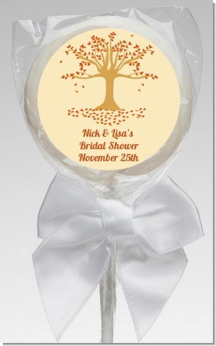 Autumn Tree - Personalized Bridal Shower Lollipop Favors