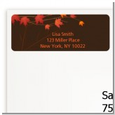 Autumn Leaves - Bridal Shower Return Address Labels