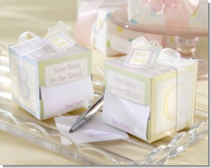 New Baby On the Block Sticky Notes Baby Shower Favor