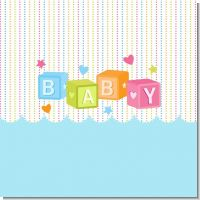 Baby Blocks Blue Baby Shower Theme