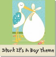 Stork It's a Boy Baby Shower Theme