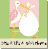 Stork It's a Girl Baby Shower Theme