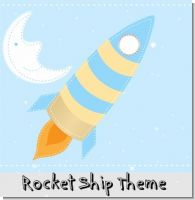 Rocket Ship Baby Shower Theme