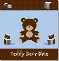 Teddy Bear Blue Birthday Party Theme