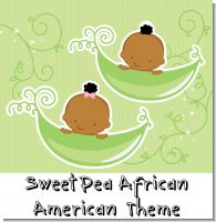 Sweet Pea African American Baby Shower Theme