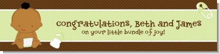 Baby Neutral African American - Personalized Baby Shower Banners