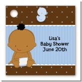 Baby Boy African American - Personalized Baby Shower Card Stock Favor Tags