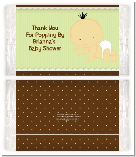 Baby Neutral Asian - Personalized Popcorn Wrapper Baby Shower Favors