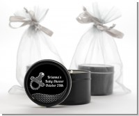 Baby Bling Pacifier - Baby Shower Black Candle Tin Favors