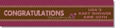 Baby Bling Pink - Personalized Baby Shower Banners