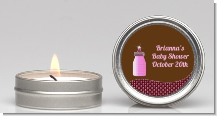 Baby Bling Pink - Baby Shower Candle Favors