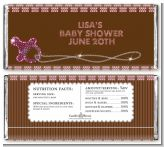 Baby Bling Pink - Personalized Baby Shower Candy Bar Wrappers