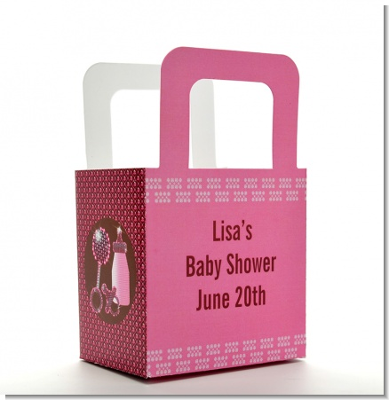 Baby Bling Pink - Personalized Baby Shower Favor Boxes