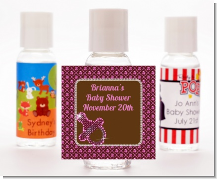Baby Bling Pink - Personalized Baby Shower Hand Sanitizers Favors