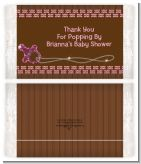 Baby Bling Pink - Personalized Popcorn Wrapper Baby Shower Favors