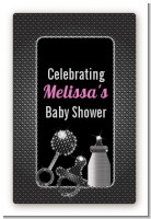 Baby Bling - Custom Large Rectangle Baby Shower Sticker/Labels