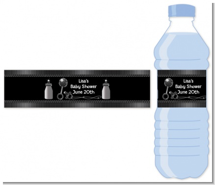 Baby Bling - Personalized Baby Shower Water Bottle Labels