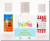 Baby Blocks Blue - Personalized Baby Shower Hand Sanitizers Favors