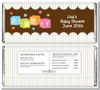 Baby Blocks - Personalized Baby Shower Candy Bar Wrappers