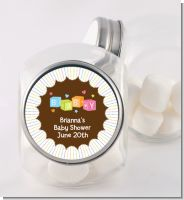 Baby Blocks - Personalized Baby Shower Candy Jar