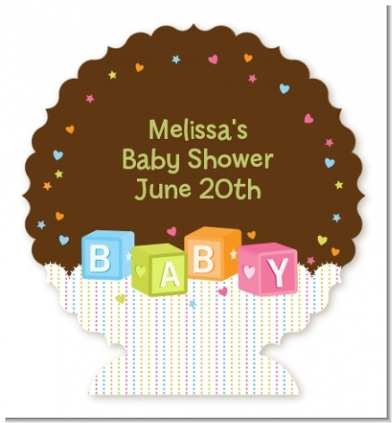 Baby Blocks - Personalized Baby Shower Centerpiece Stand