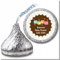 Baby Blocks - Hershey Kiss Baby Shower Sticker Labels