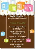 Baby Blocks - Baby Shower Invitations