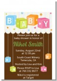 Baby Blocks - Baby Shower Petite Invitations