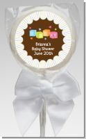 Baby Blocks - Personalized Baby Shower Lollipop Favors