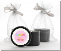 Baby Blocks Pink - Baby Shower Black Candle Tin Favors