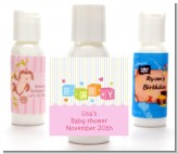 Baby Blocks Pink - Personalized Baby Shower Lotion Favors