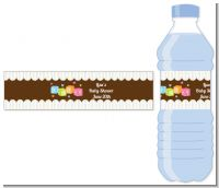Baby Blocks - Personalized Baby Shower Water Bottle Labels
