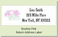 Booties Pink - Baby Shower Return Address Labels