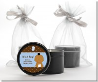 Baby Boy African American - Baby Shower Black Candle Tin Favors