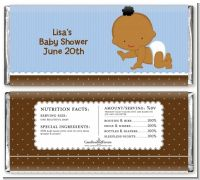 Baby Boy African American - Personalized Baby Shower Candy Bar Wrapper