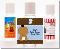 Baby Boy African American - Personalized Baby Shower Hand Sanitizers Favors