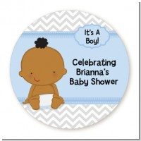 Baby Boy African American - Personalized Baby Shower Table Confetti