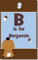 Baby Boy African American - Personalized Baby Shower Nursery Wall Art