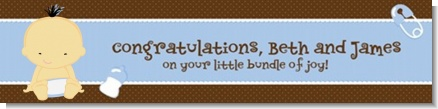 Baby Boy Asian - Personalized Baby Shower Banners