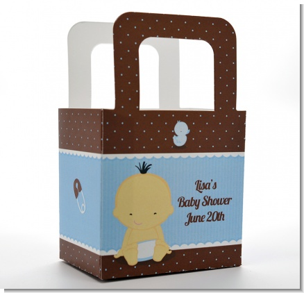 Baby Boy Asian - Personalized Baby Shower Favor Boxes