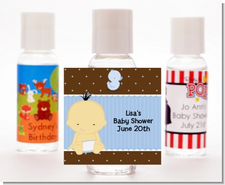 Baby Boy Asian - Personalized Baby Shower Hand Sanitizers Favors