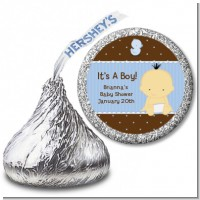 Baby Boy Asian - Hershey Kiss Baby Shower Sticker Labels