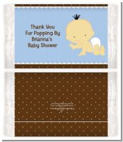 Baby Boy Asian - Personalized Popcorn Wrapper Baby Shower Favors