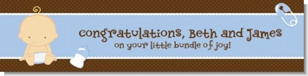 Baby Boy Caucasian - Personalized Baby Shower Banners