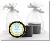 Baby Boy - Baptism / Christening Black Candle Tin Favors