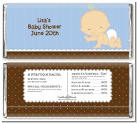 Baby Boy Caucasian - Personalized Baby Shower Candy Bar Wrappers