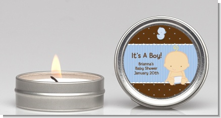 Baby Boy Caucasian - Baby Shower Candle Favors