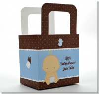 Baby Boy Caucasian - Personalized Baby Shower Favor Boxes