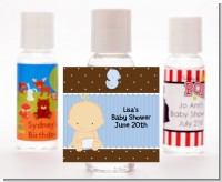 Baby Boy Caucasian - Personalized Baby Shower Hand Sanitizers Favors